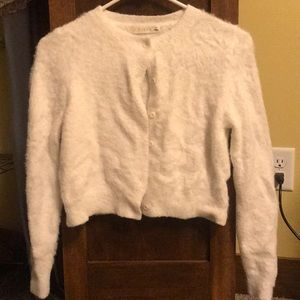 Windsor fuzzy button up top
